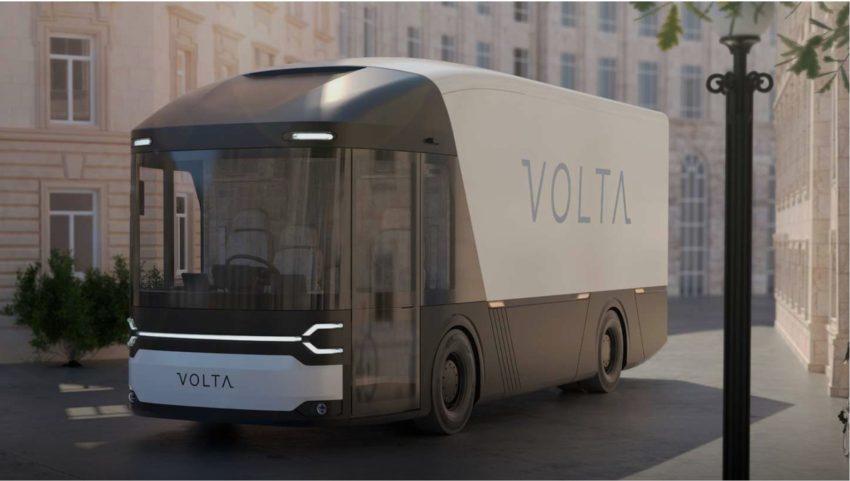 Футуристический электрический грузовик Volta