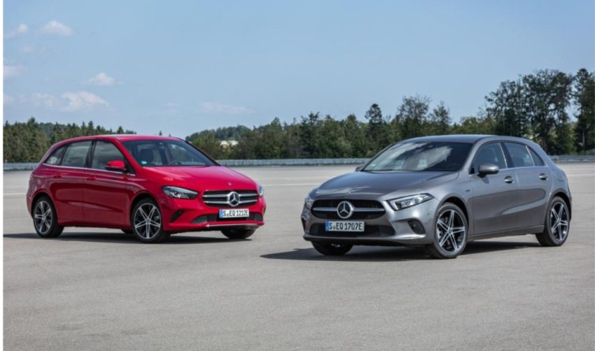 Новые гибриды Mercedes A 250 e и B 250 e