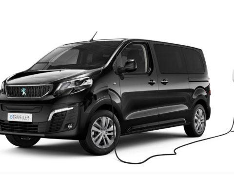 Новый полностью электрический микроавтобус Peugeot e-Traveler
